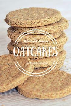 Scottish Oatcakes Recipe - Baking with Granny Scottish Oatcake Recipes, Scottish Recipes, Irish Recipes, Scottish Oat Cakes, Scottish Dishes, Tea Cakes, Food Cakes, Baking Recipes, Cookie Recipes
