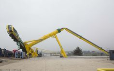 An industrial crane collapsed at Dales Park Industrial estate Peterhead, Aberdeenshire aft...