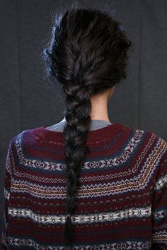 use sea salt spray on textured braided hair and then plate it into a rough day look