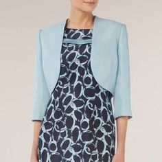 Jacques Vert Misty Blue Tailored Bolero- at Debenhams.com