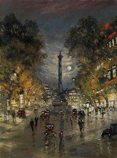 Konstantin Korovin, Plaza de la Bastilla