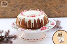 Bundt cake de chocolate blanco con cobertura
