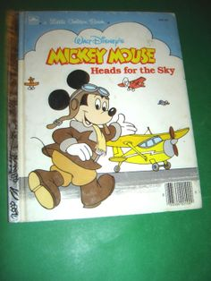 MICKEY MOUSE HEADS FOR THE SKY WALT DISNEY BOOK 1987 #Kids #Book