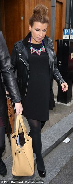 Coleen Rooney. Abby.  A really nice outfit, really like the necklace and how the bold necklace gives the outfit some colour.