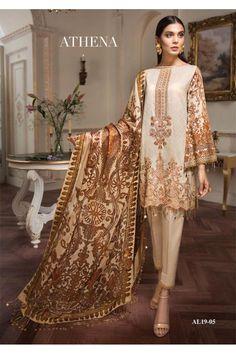 Pakistani salwar kameez - Anaya Luxury Lawn 2019 Ete De L'amour Pakistani Salwar Kameez 05 Eid Outfits Pakistani, Pakistani Fashion Party Wear, Pakistani Lawn Suits, Pakistani Salwar Kameez, Pakistani Dress Design, Pakistani Designers, Shalwar Kameez, Indian Fashion, Pakistani Clothing