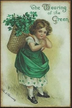THE VIRTUAL VICTORIAN: A HAPPY SAINT PATRICK'S DAY TO YOU! Vintage Cards, Vintage Postcards, Vintage Images, Saint Patricks Day Art, Happy St Patricks Day, St Patricks Day Pictures, Homemade Face Paints, Old Greeting Cards, Picture Postcards