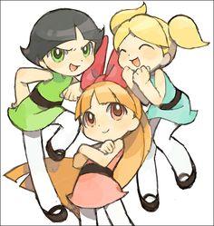 Powerpuff Girls by Puyo. The Powerpuff girls as I remember them. Cartoon As Anime, Cartoon Shows, Cartoon Art, Disney Drawings, Cute Drawings, Illustration Kawaii, Desenhos Cartoon Network, Super Nana, Ppg And Rrb