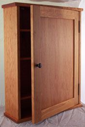 Surface mounted shaker style medicine cabinet with a shaker flat panel door Surface Mount Medicine Cabinet, Recessed Medicine Cabinet, Bathroom Medicine Cabinet, Medicine Cabinets, Wall Spice Rack, Wall Mounted Spice Rack, Spice Racks, Kitchen Spice Storage, Tall Cabinet Storage