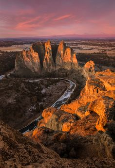 The Serpent ~ Smith Rock State Park in the high desert of Oregon near Redmond.
