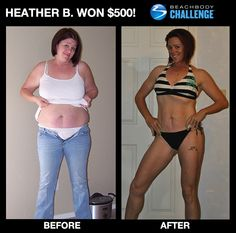 """WOW! - very Inspirational! :05/13/12:: Heather feels strong and sexy after losing 111 lbs w/ #ChaleanExtreme! -->  """"I have sculpted muscles I've never had before. I have a sense of empowerment. I can drop and bust out regulation push-ups from my toes. And some guys at work even cracked a joke about putting my 'guns' on safety! ...It's like Chalene says, """"You give good and you get good."""" That's what Beachbody did for me."""" ENTER YOUR RESULTS TODAY FOR A CHANCE TO WIN!"""