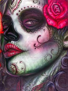 dia de los muertos – day of the dead art…. Inspiration for a piece I'm wor… dia de los muertos – day of the dead art…. Inspiration for a piece I'm working… Sugar Scull, Sugar Skull Girl, Sugar Skull Makeup, Sugar Sugar, Art Et Illustration, Illustrations, Posters Geek, Los Muertos Tattoo, Day Of The Dead Girl