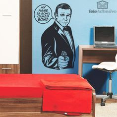 Wall sticker My name is Bond. The most famous phrase of Agent 007 fictional character created by the English journalist and novelist Ian Fleming Blues Brothers, Pulp Fiction, My Name Is, Cinema, Wall Stickers, Stencils, James Bond, Shiva, Tat