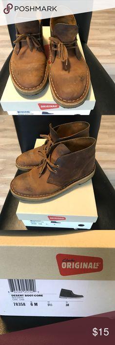 Brown Clark shoe. Size 6. Worn Brown Clark shoe. Size 6. Worn. Make me an offer. Clarks Shoes