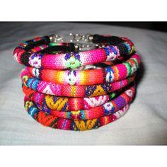 Wholesale Lot 3 peruvian textile Bracelets Rainbow Colors Handmade ($20) ❤ liked on Polyvore