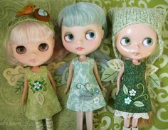 3 green fairies by merwing✿little dear, via Flickr