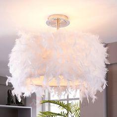 Pauline - lampa sufitowa z kaczym pierzem 9620865