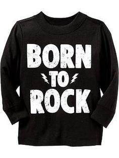 """""""Born To Rock"""" Graphic Tees for Baby 