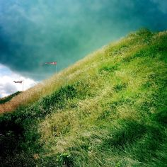 """@pocketstock's photo: """"Flags, grass ridge and storm clouds"""""""