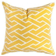 Caitlin Wilson Textiles: Mustard City Maze Pillow - active with prices and ordering Yellow Throw Pillows, Yellow Cushions, Accent Pillows, Cute Cushions, Cute Pillows, Caitlin Wilson Design, Purple Sofa, Navy Couch, Traditional Pillows
