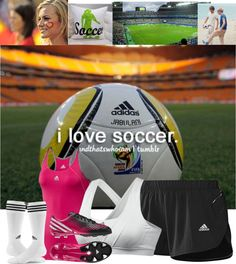 """i love soccer"" by hey-delilah ❤ liked on Polyvore"