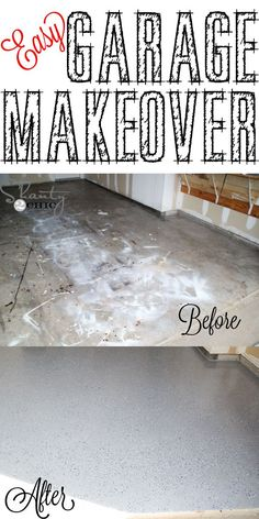 DIY garage floor makeover! Great for a weekend project