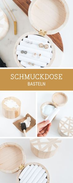DIY-Anleitung für eine selbstgemachte Schmuckdose aus Holz, auch als Geschenkidee / diy tutorial for a wooden jewellery box via DaWanda.com