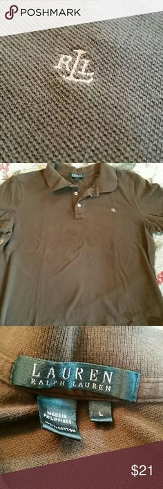 🌻Lauren Ralph Lauren Polo shirt Brown polo shirt.  Worn once. Ralph Lauren Tops