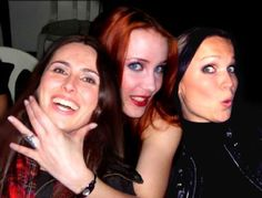 Three queens of metal: Sharon den Adel, Simone Simons, and Tarja Turunen. Only need to meet Sharon to finish my trifecta.