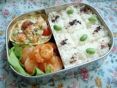 Bento no. 42: Easygoing shrimp bento