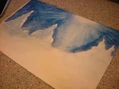 Winter water color idea for homeschooling.
