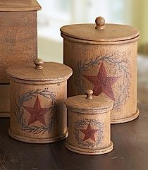 canisters (wonder if i could make these-cold porcelain around cans/containers to dry)