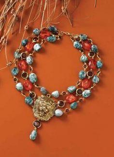 Love the lion head statement piece. Great #jewelry idea.