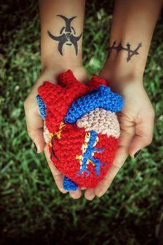 Anatomical Human Heart Plush by bi0hazard2886 on Etsy