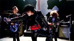 """Gerards pants are slit kinda high. But this is from one of their music videos. im not sure which though"" the music video is Desolation Row My Chemical Romance, Asking Alexandria, Good Charlotte, Desolation Row, Sassy Diva, How To Lean Out, Mikey Way, Black Parade, Frank Iero"