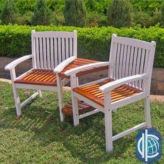 International Caravan Corner Double Chair with Antiqued UV Paint Finish
