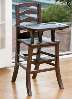 love this wooden high chair