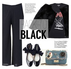 """back to black"" by punnky ❤ liked on Polyvore featuring Chloé and Haute Hippie"