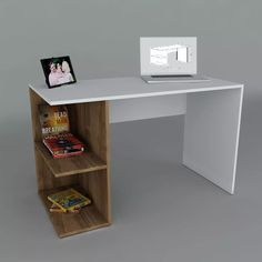modern desk table pc notebook – office furniture – Homes Deco Furniture, Home Office Furniture, Home Office Decor, Furniture Design, Home Decor, Table Pc, Table Desk, Bookshelf Desk, Bookshelves