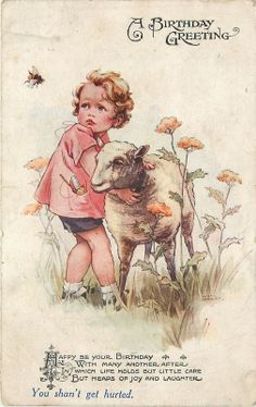 Nina Brisley Child Hangs Onto Lamb Pockets OF Toys Bumblebee Vivian Manssell | eBay