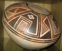 """Mimbres Seed Jar / 14+"""" wide x 9"""" high with 5"""" opening - 2"""