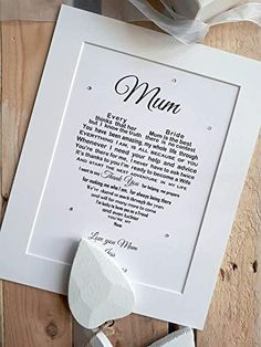Mother of the Bride Gift from Daughter, Sentimental Wedding Gift for Mum, Unique personalised Poem print to fit frame (not supplied) Sentimental Wedding Gifts, Unique Wedding Gifts, Unique Words, Amazon Gifts, Gifts For Mum, Bride Gifts, Mother Of The Bride, Daughter, Frame