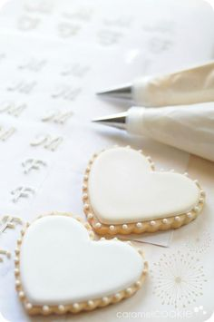 wedding cookies uploaded by on We Heart It Fancy Cookies, Heart Cookies, Cute Cookies, Valentine Cookies, Iced Cookies, Biscuit Cookies, Royal Icing Cookies, Cupcake Cookies, Sugar Cookies