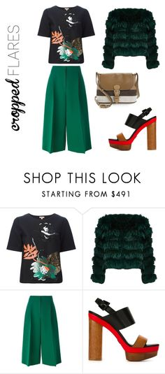 """""""so,more flare?"""" by vkrene on Polyvore featuring P.A.R.O.S.H., Alice + Olivia, Valentino, Michael Kors, Burberry, women's clothing, women's fashion, women, female and woman"""