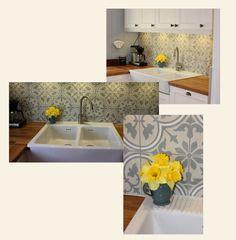 #20_vegg_kjøkken Tiles, Sink, Decor, House, Kitchen, Home, Kitchen Re, Kitchen Island, Home Decor