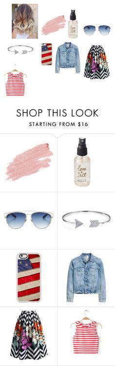"""""""Untitled #158"""" by mackenzie-marsinelli on Polyvore featuring Jane Iredale, Olivine, Christian Dior, Bling Jewelry, Casetify and Chicwish"""