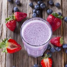Get festive with this healthy Red, White, and Blueberry Smoothie recipe!