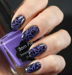 Kynsin: Mustaa ja violettia Born Pretty, Class Ring, Make Up, Nail Art, Nails, Jewelry, Finger Nails, Jewlery, Ongles