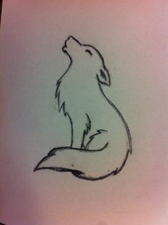 """Image search result for """"minimalist wolf tattoo… – – diy best tattoo images diy tattoo – diy best tattoo images – Image search result for minimalist wolf tattoo Cute Easy Drawings, Cool Art Drawings, Pencil Art Drawings, Art Drawings Sketches, Simple Animal Drawings, Tattoo Drawings, Cute Wolf Drawings, Easy Disney Drawings, Drawing Disney"""