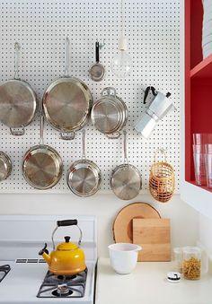 Pannelli forati in cucina