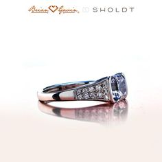 sholdt rings | 14K White Gold Reese engagement ring a Pave & Side Stones diamond ring ...